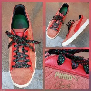 Puma Clyde GCC High Risk Red Sneakers